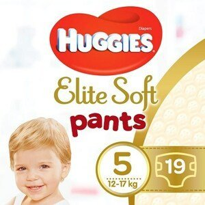 Huggies® Elite Soft Pants 5 Plenkové kalhotky 12-17kg 19ks