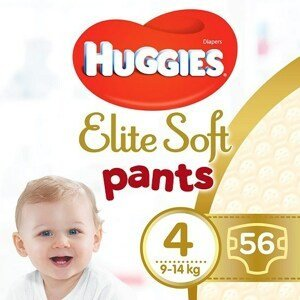 Huggies® Elite Soft Pants 4 Plenkové kalhotky 9-14kg 56ks