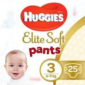 Huggies® Elite Soft Pants 3 Plenkové kalhotky 6-11kg 25ks
