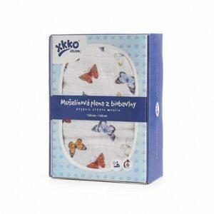 XKKO Organic biobavlněného plenka 120x120, Butterflies