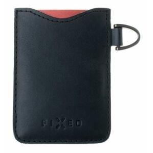 FIXED Kožené pouzdro na karty Smile Cards se smart trackerem FIXED Smile Pro černé