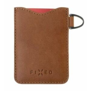 FIXED Kožené pouzdro na karty Smile Cards se smart trackerem FIXED Smile Pro hnědé