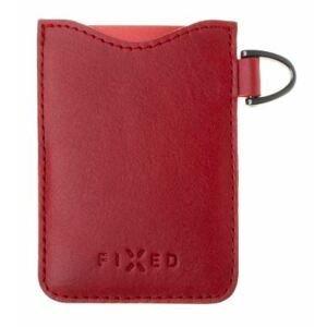 FIXED Kožené pouzdro na karty Smile Cards se smart trackerem FIXED Smile Pro červené