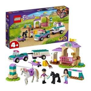 Lego Auto s přívěsem a výcvik koníka