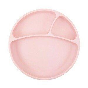 Minikoioi Talíř dělený silikonový s přísavkou - Pink