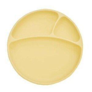 Minikoioi Talíř dělený silikonový s přísavkou - Yellow