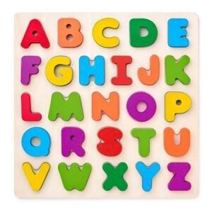 Woody Puzzle ABC písmena na desce 26ks