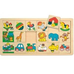 "WOODY Přilož kam co patří malé (3x6) ""Žirafa Suzie"""