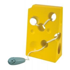 "WOODY Provlékadlo ""Sýr s myškou"" 1ks"