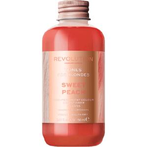 Revolution Haircare Tones for Blondes Barva na vlasy Sweet Peach 150ml