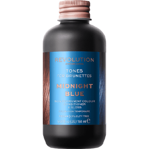 Revolution Haircare Tones for Brunettes Barva na vlasy Midnight Blue 150ml