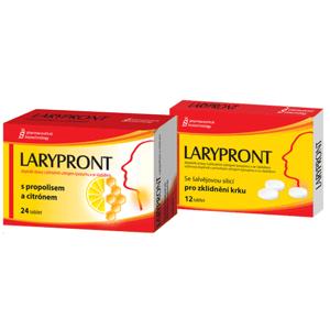 Larypront tbl.24 s propolisem a citrónem + 12tbl. zdarma