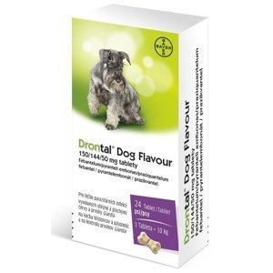 Drontal Dog Flavour 150/144/50mg 24 tablet