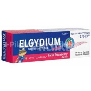 ELGYDIUM KIDS gelová zubní pasta s fluorinolem 2-6 let jahoda 50ml