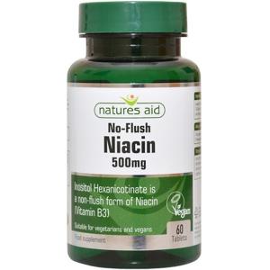 Natures Aid  Niacin B3 500mg 60 tablet