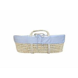 Ahojbaby Potah do Mojžíšova košíku pro miminko Grey, organická bavlna