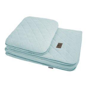 Sleepee Royal Baby Set Ocean Mint - sametová deka + polštářek
