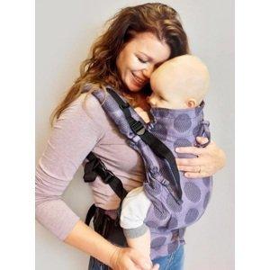 Kinder Hop Rostoucí ergonomické nosítko Multi Soft Dots Lavender, 100% bavlna, žakár