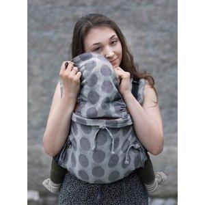 Kinder Hop Rostoucí ergonomické nosítko Multi Soft Dots Light Grey, 100% bavlna, žakár