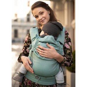 Kinder Hop Rostoucí ergonomické nosítko Multi Soft Little Herringbone Turquoise, 100% bavlna, žakár