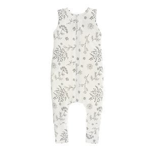 Sleepee Oboustranný spací pytel s nohavicemi Bloom/Černé tečky M 1ks