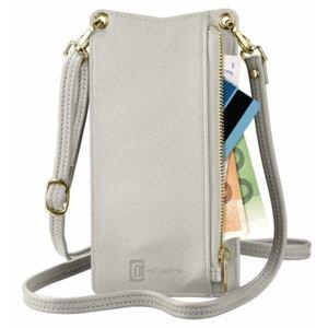 Cellularline Pouzdro na krk Mini Bag pro mobilní telefony bílý