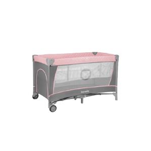 Lionelo Cestovní postýlka Flower Flamingo