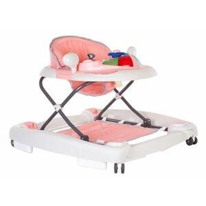 Sun baby Dětské chodítko a houpačka Car - Pink grey