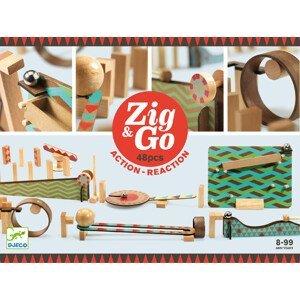 Djeco Dřevěná dráha Zig Go 48 dílků