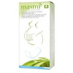 MASMI Porodnické (mateřské) vložky z přírodní bavlny 10ks