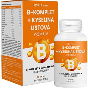 MOVit Energy  MOVit B-Komplet + Kyselina listová PREMIUM 90 tablet