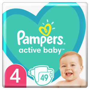 Pampers Active Baby Plenky velikost 4 49ks