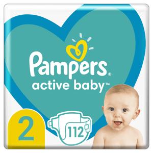 Pampers Active Baby Plenky velikost 2 112ks