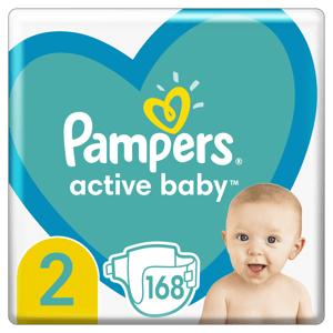Pampers Active Baby Plenky velikost 2 168ks