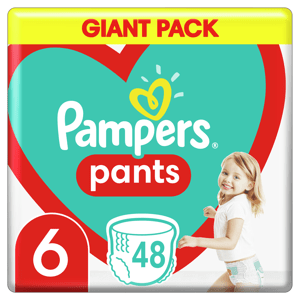 Pampers Plenkové Kalhotky Pants velikost 6 48ks