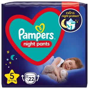 Pampers Night Pants Plenkové kalhotky velikost 5 22ks