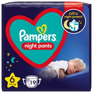 Pampers Night Pants Plenkové Kalhotky Velikost 6 19ks