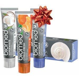 SPLAT  Vánoční Biomed Trio Superwhite & Citrus Fresh & Calcimax zubní pasty 3x100g