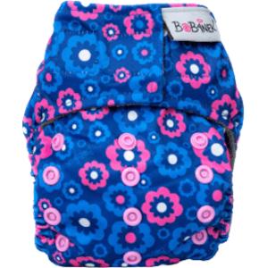Bobánek Novorozenecká AIO plenka suchý zip Modré květiny 1ks