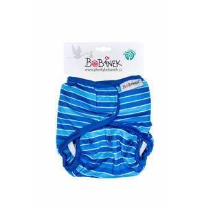 Bobánek Svrchní kalhotky suchý zip - Modré proužky