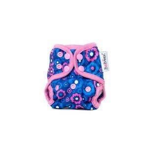Bobánek Novorozenecké svrchní kalhotky patentky - Modré květiny