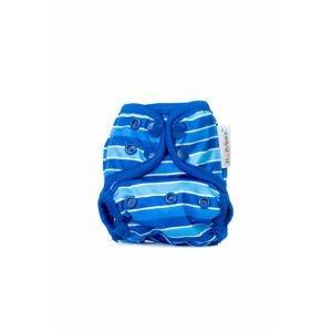 Bobánek Novorozenecké svrchní kalhotky patentky - Modré proužky
