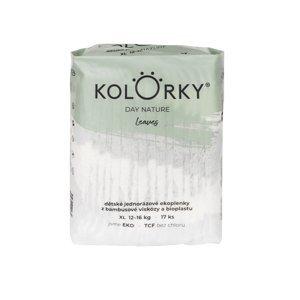 KOLORKY DAY NATURE - listy - XL (12-16 kg) - 17 ks - jednorázové eko plenky