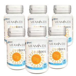 Novax Naturpharma Vitamín D3 6x 60 tablet