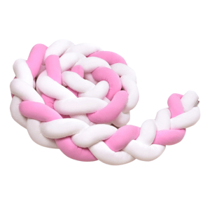T-Tomi Pletený mantinel 220 cm White+Pink 1ks