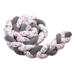T-Tomi Pletený mantinel 220 cm Anthracite+Roses 1ks