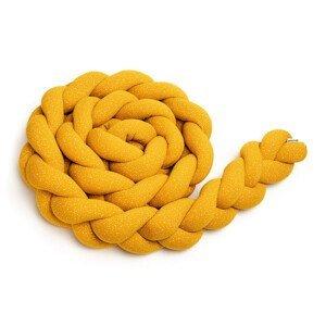 T-Tomi Pletený mantinel 220 cm Mustard Dots 1ks