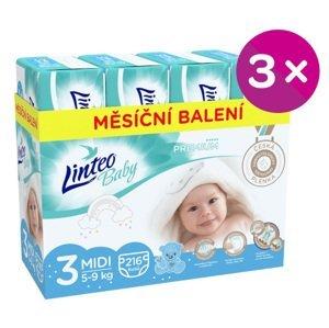 Plenky Linteo Baby Prémium MIDI (5-9kg) 648ks