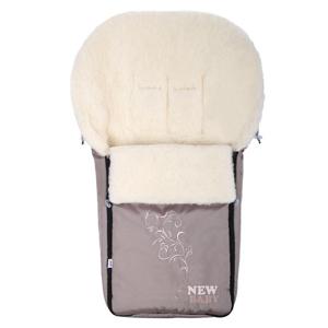 New Baby Luxusní fusak s ovčím rounem béžový