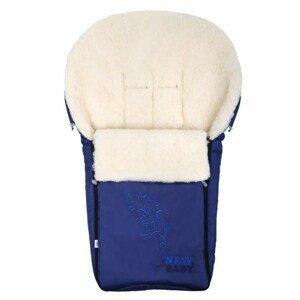 New Baby Luxusní fusak s ovčím rounem tmavě modrý